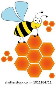 bee honeycomb vector