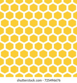 bee honeycombs. yellow and white, texture. Abstract seamless pattern .Vector illustration.