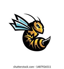 Bee or hornet modern style vector mascot
