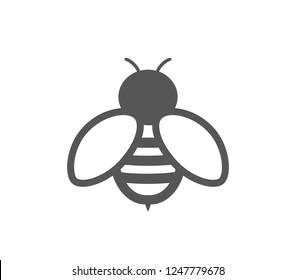 Bee icon.  Bee line design vector illustration.