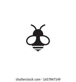 Bee icon on a white background