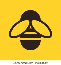 Bee icon on yellow background