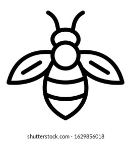 Bee icon. Outline bee vector icon for web design isolated on white background