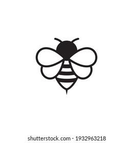 bee icon symbol sign vector