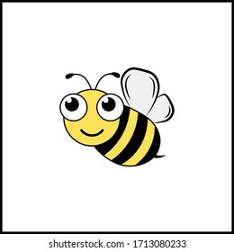 bee icon vector illustration character