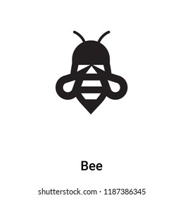 Bee icon vector isolated on white background, logo concept of Bee sign on transparent background, filled black symbol