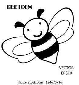 bee icon,bee drawing,bee outline,vector