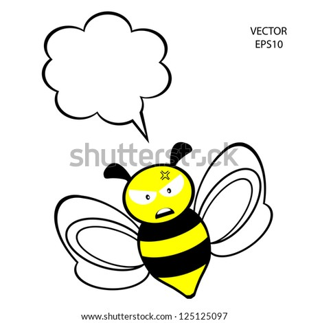 Bee Clip Art Outline