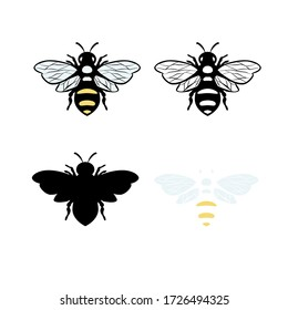 Bee illustration vector Design template. Suitable for Creative Industry, Multimedia, entertainment, Educations, Shop, and any related business Vector Stock illustration