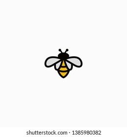 Bee logo concepts minimalis simply
