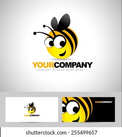 Bee Logo Design Concept. Abstract Creative Bee Icon.Honey Producer Logo.