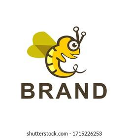 bee logo design. cute bee logo, baby bee logo,
