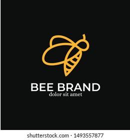 Bee Logo Design Template Inspiration - Vector