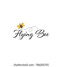 Bee Logo Design Vector