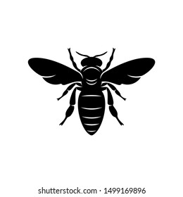 Bee logo design vector. Icon Symbol. Template Illustration