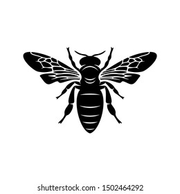 Bee logo design vector. Icon Symbol. Template Illustration