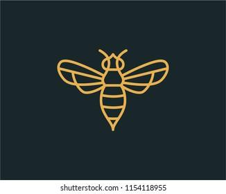 Bee logo design vector. Universal bee design.