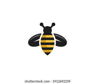 Bee logo honey logo animal vector