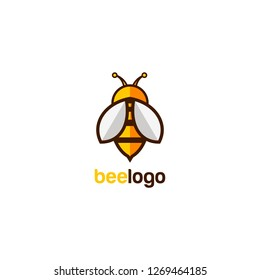 Bee logo simple