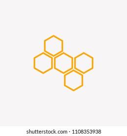 bee logo template vector