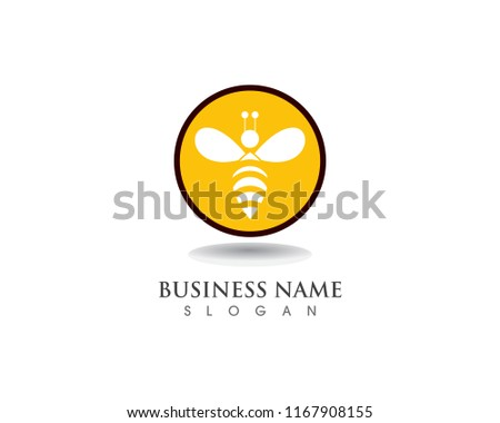 bee logo template vector icon illustration stock vector royalty