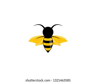 Bee logo vector icon illustration