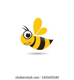 Bee logo vector icon illustration design