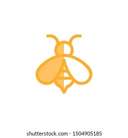 Bee Logo Vector icon template,eps 10