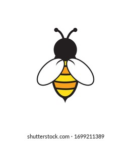 Bee logo vector illustration design