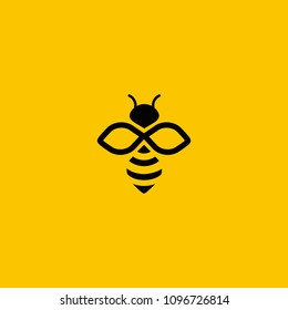bee logo vector outline minimalist graphic