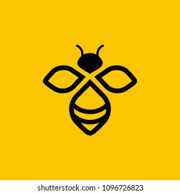 bee logo vector outline minimalist graphic