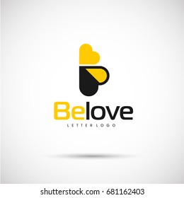 Bee Love Logo template. Vector Illustration Eps.10