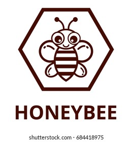 bee outline label