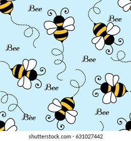 Bee pattern background . seamless pattern