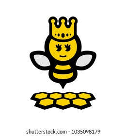 Bee Queen with Crown and Hive