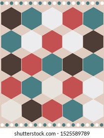 Bee sells background in red, green, brown and white pastel colours for Christmas and New Year