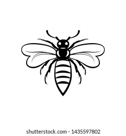 Bee sign symbol icon illustration vector Design template. Suitable for Creative Industry