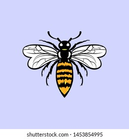 Bee sign symbol icon illustration vector Design template. Suitable for Creative Industry, Multimedia, entertainment, Educations, Shop, and any related business