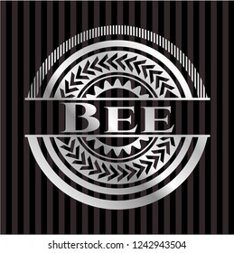 Bee silver badge or emblem