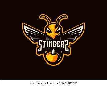 Bee Stingers eSports Mascot Logo