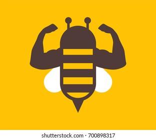 Bee Strong Vector