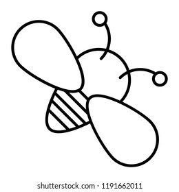 Bee thin line icon. Insect vector illustration isolated on white. Honey bee outline style design, designed for web and app. Eps 10
