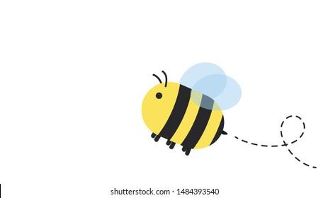 Bee vector. bee cartoon. character design.