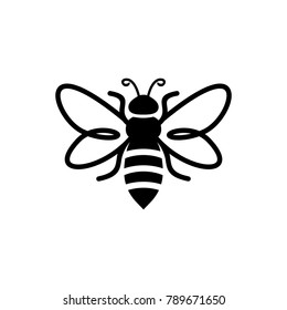 bee vector design with unique and clean look.