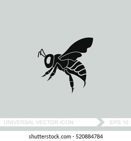 Bee vector icon.