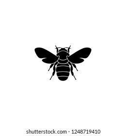 bee vector icon. bee sign on white background. bee icon for web and app