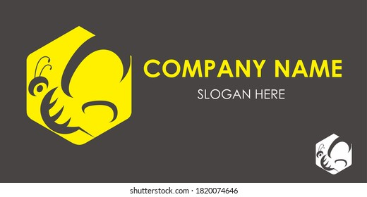 Bee wasp vector logo concept. nature honey product company