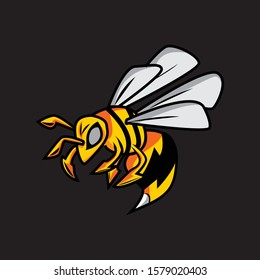 bee wild angry logo esport