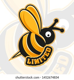 A bee with the word, limited