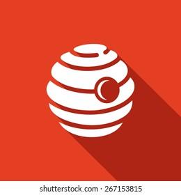 Beehive icon. Vector Illustration